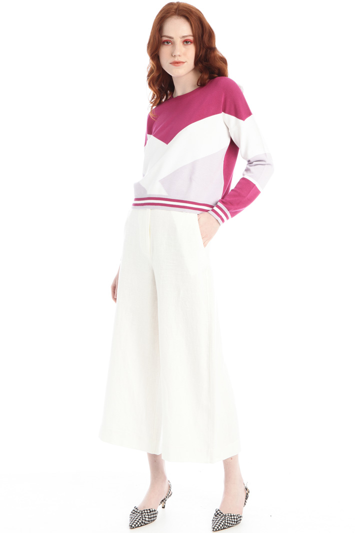 Cropped inlayed sweater Intrend