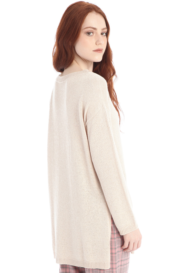 Oversized sweater with slits Intrend