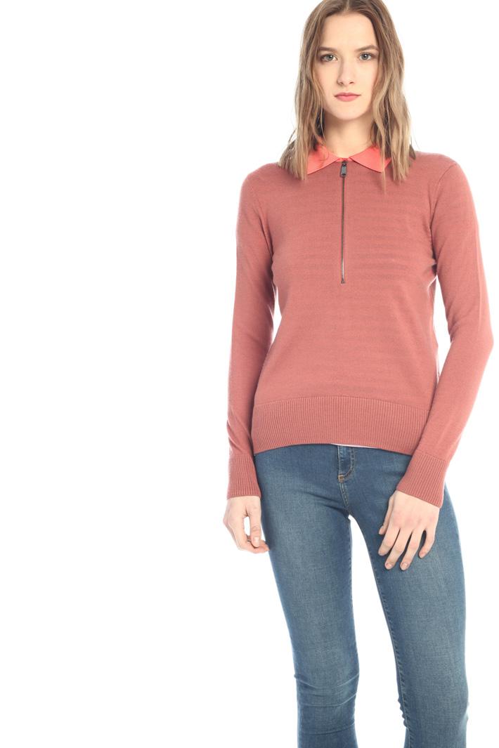 Pure merino polo sweater  Intrend