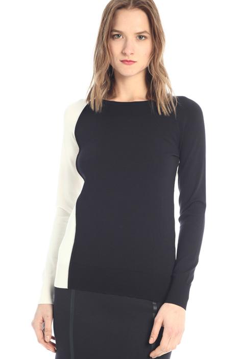 Sweater with wavy trim  Intrend