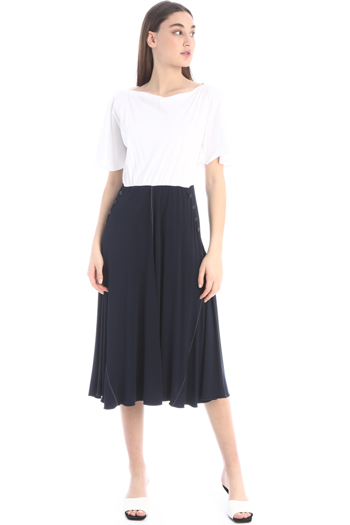 Jersey dress with flounces Intrend