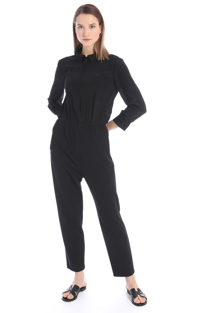 Crepe twill jumpsuit Intrend