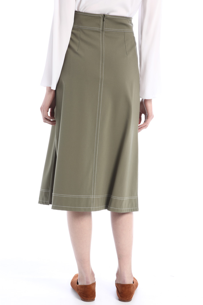 Jersey skirt with slits Intrend