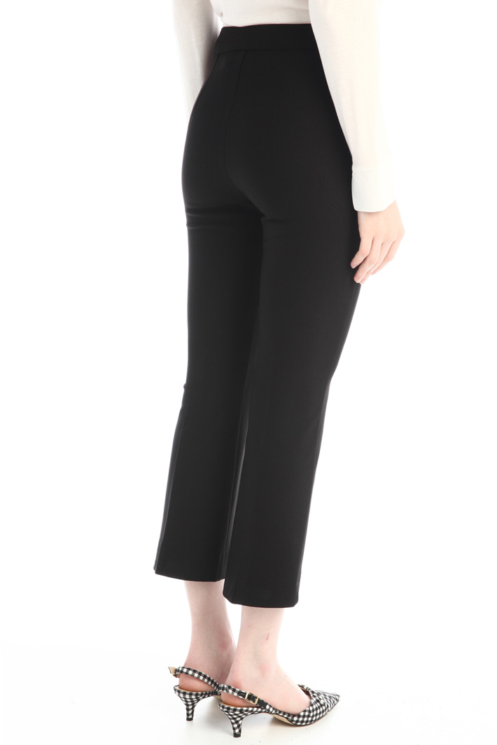 Flare leg jersey trousers Intrend