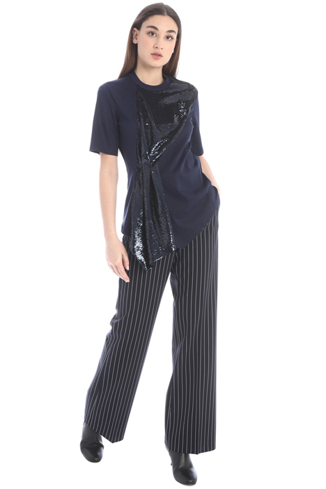 Pinstriped palazzo trousers Intrend