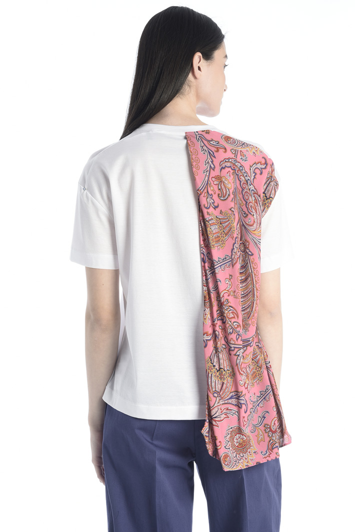 Crepe overlay T-shirt Intrend