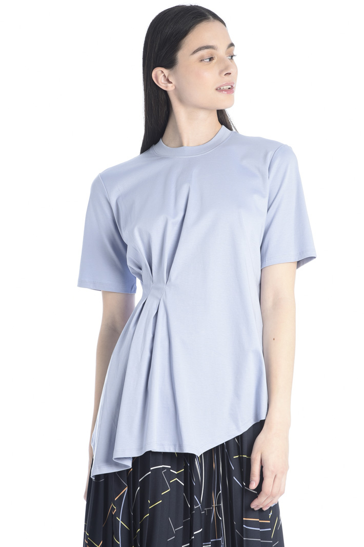 Pleated side T-shirt Intrend