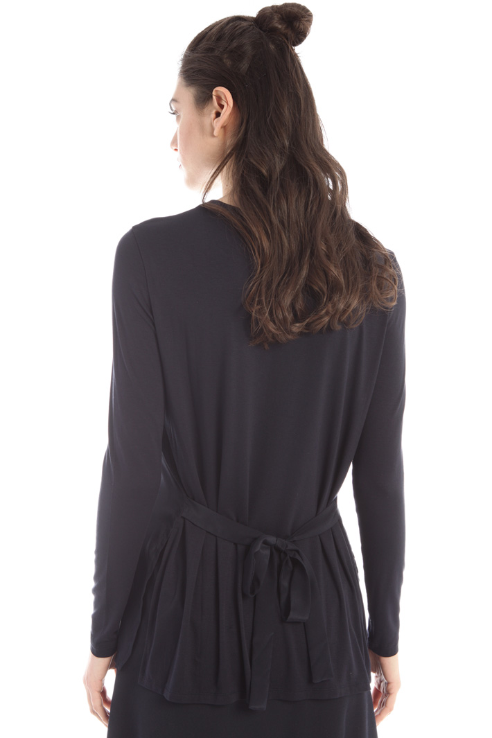 Silk and jersey T-shirt Intrend