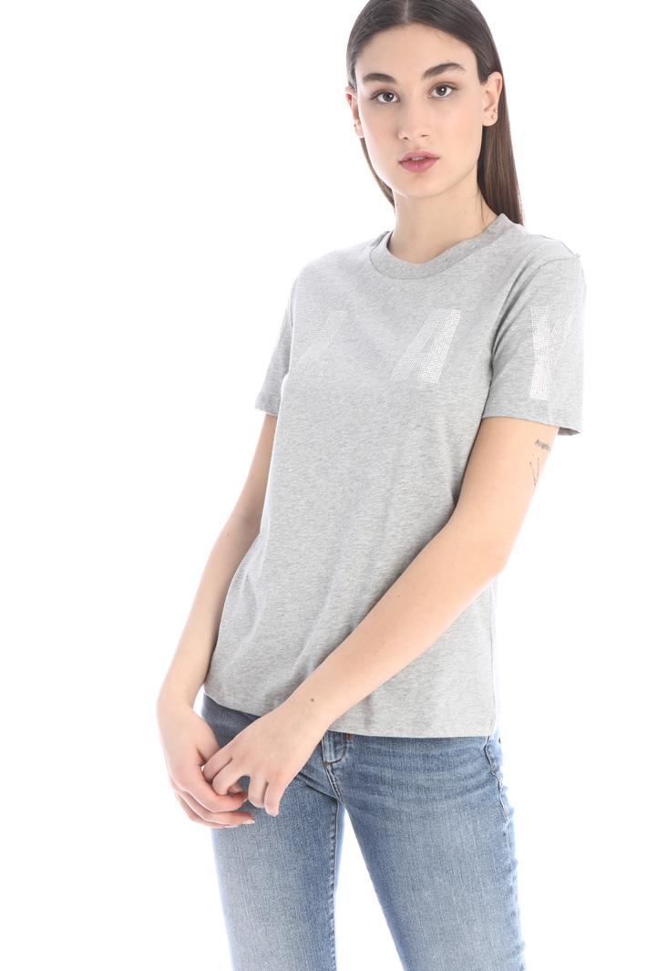 Rhinestone detailed T-shirt Intrend
