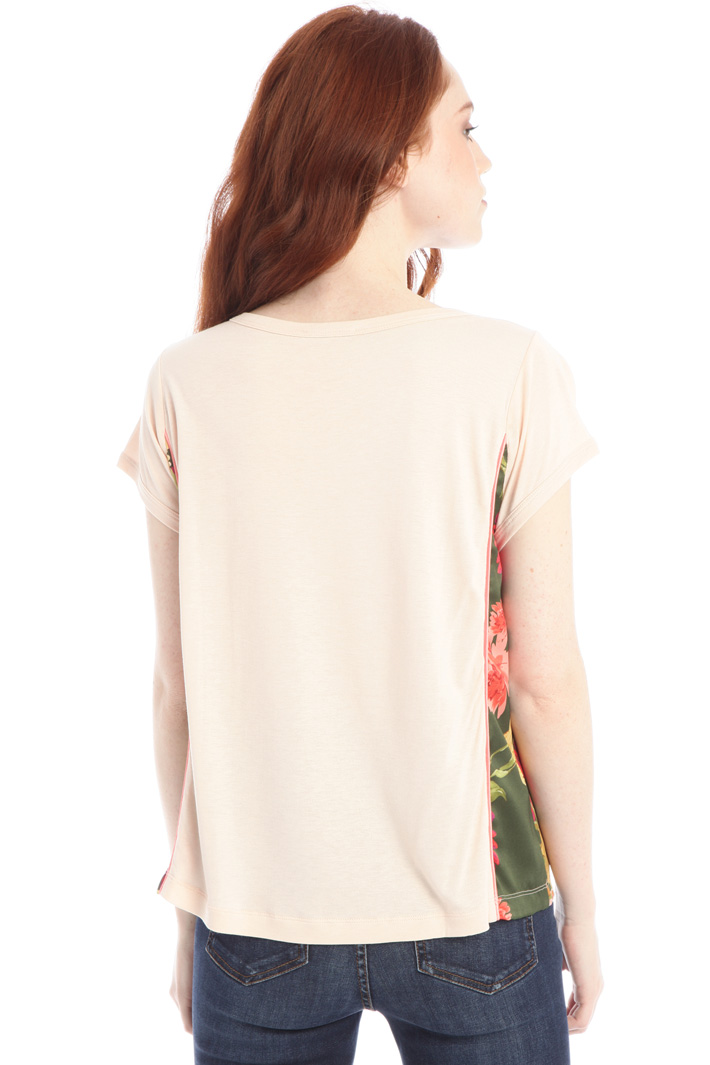 Jersey and twill T-shirt Intrend