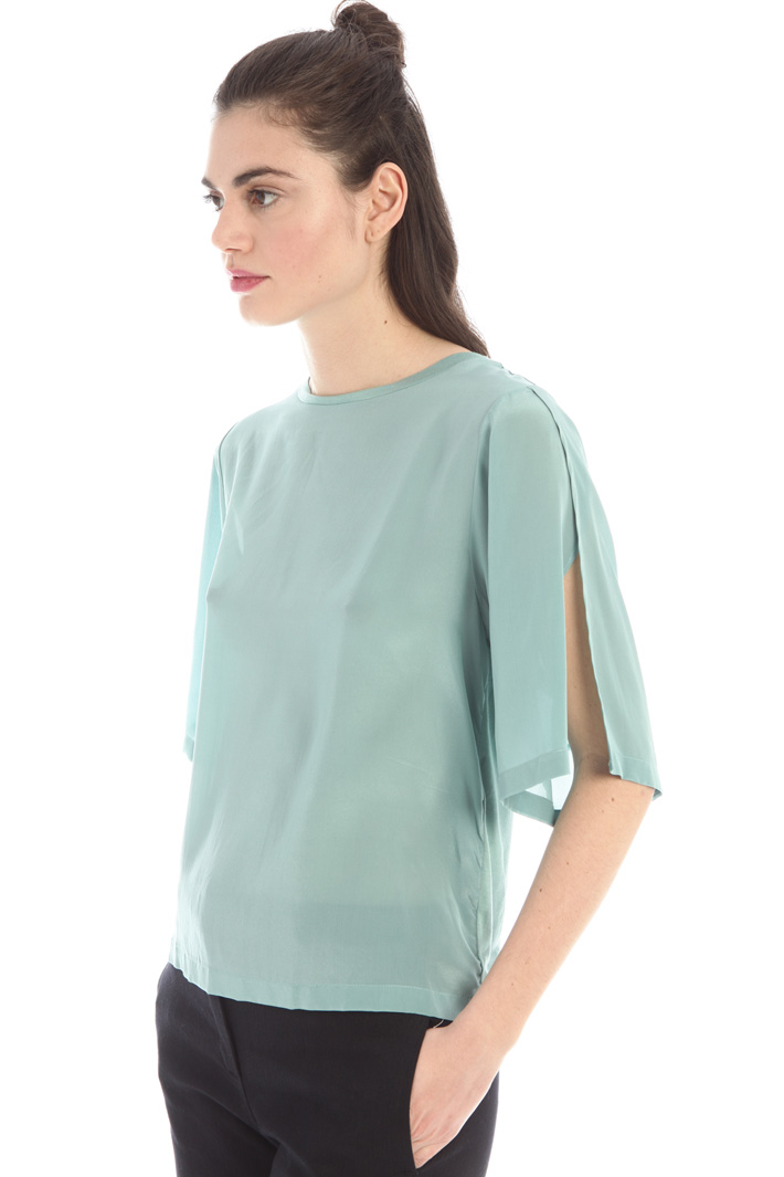 Silk and jersey blouse  Intrend