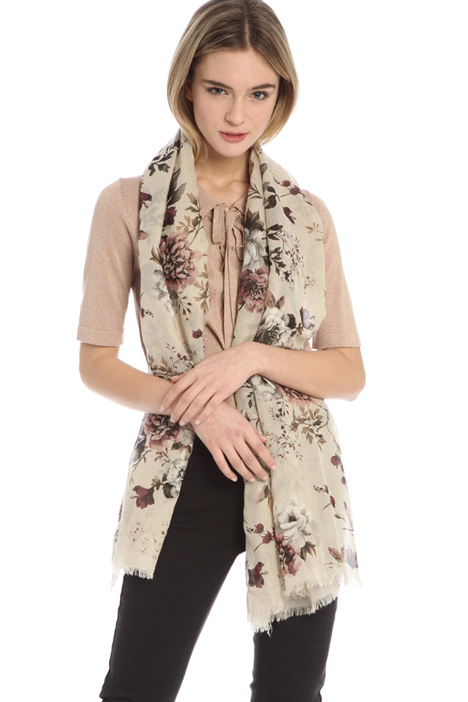 Scarf in natural fabric Intrend