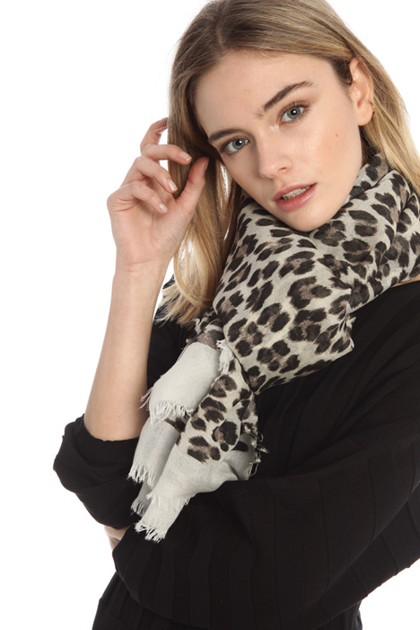 Stole in natural fabric Intrend