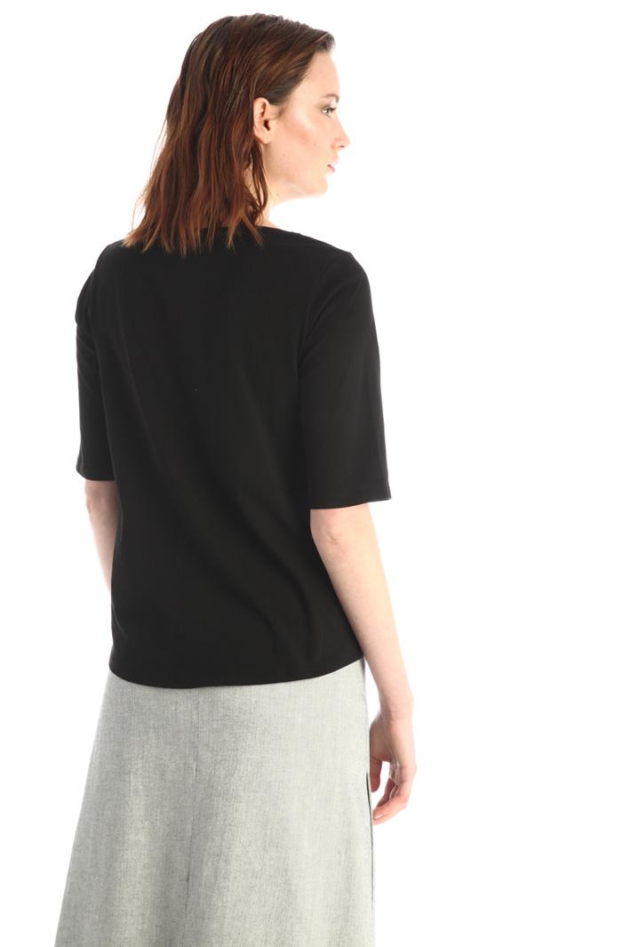 Cotton and rhinestone T-shirt Intrend
