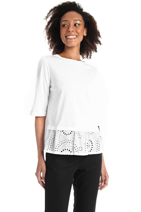 Jersey and lace T-shirt Intrend
