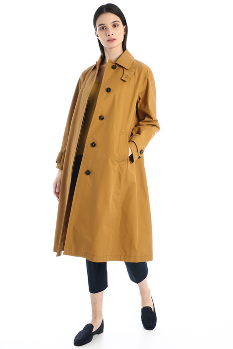 Cotton gabardine trench coat Intrend