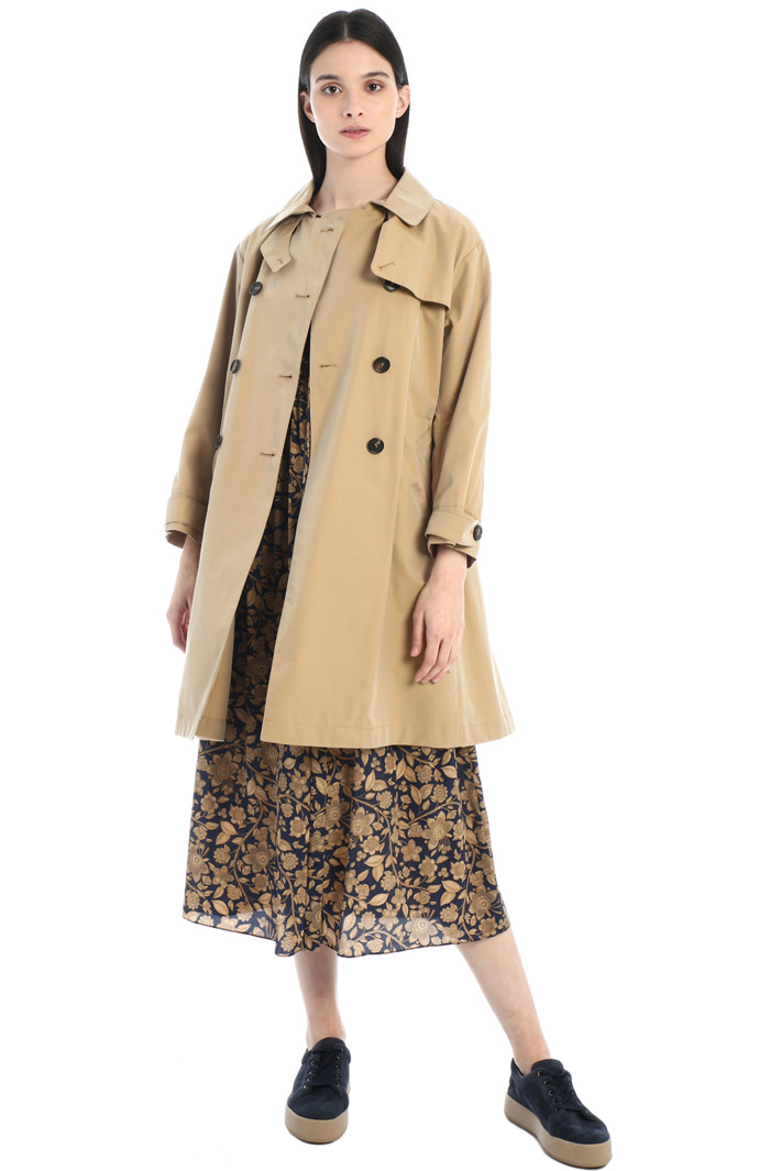 Cotton gabardine trench coat Intrend
