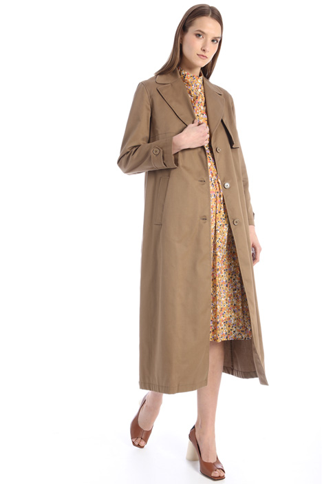 Long gabardine trench Intrend