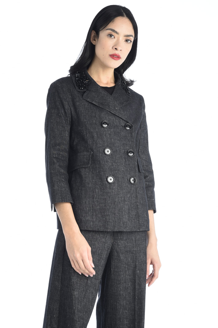 Embroidered pea coat Intrend