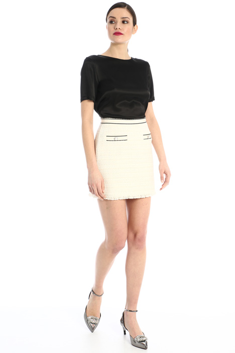 Mini skirt in lamé tweed Intrend