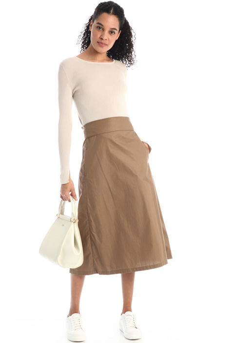 Cotton poplin skirt Intrend