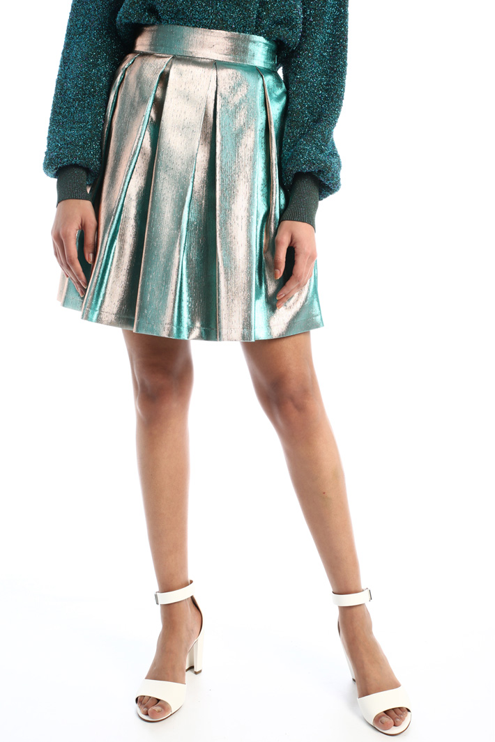 Shiny lamé skirt  Intrend