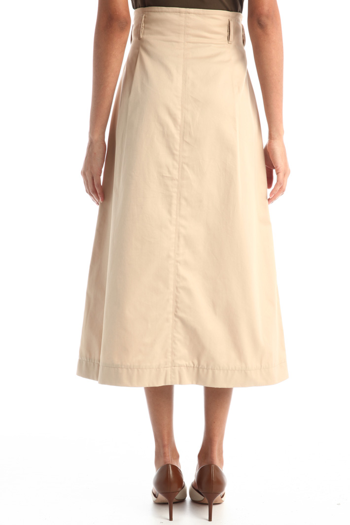 Wrap-up cotton skirt Intrend