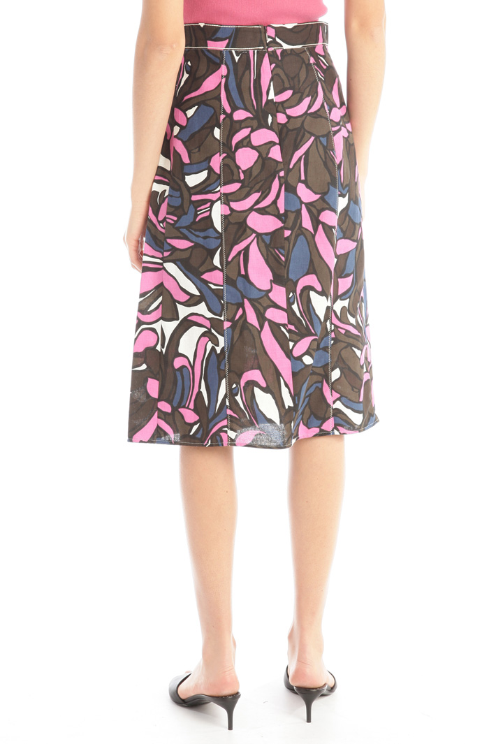 Linen and cotton skirt Intrend