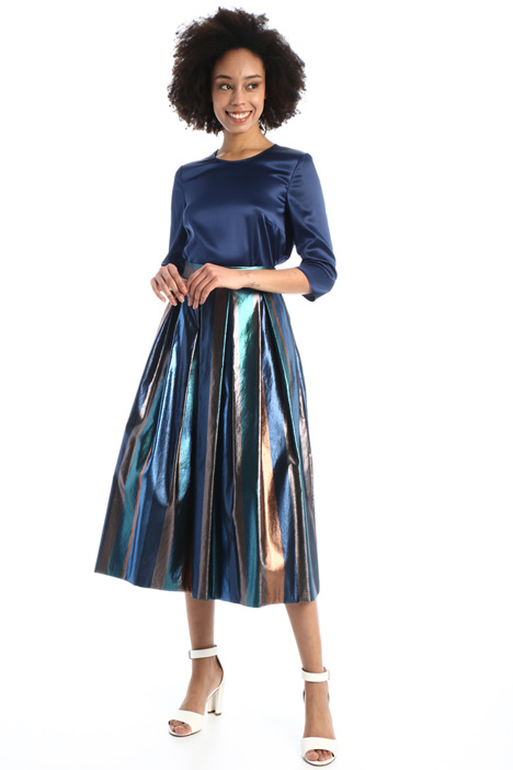 Pleated lamé skirt Intrend