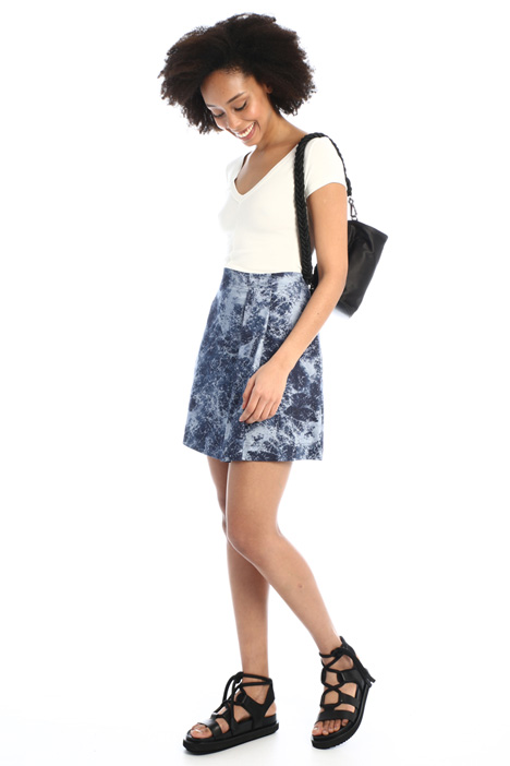A-line satin short skirt Intrend