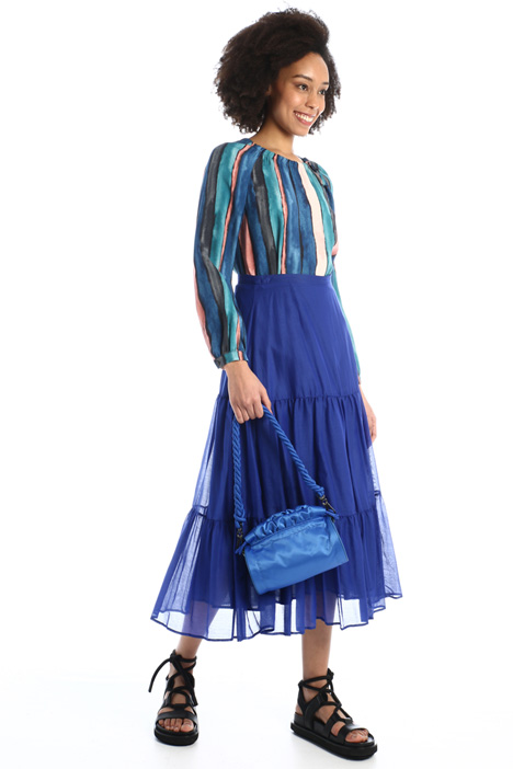 Voile pleated skirt Intrend