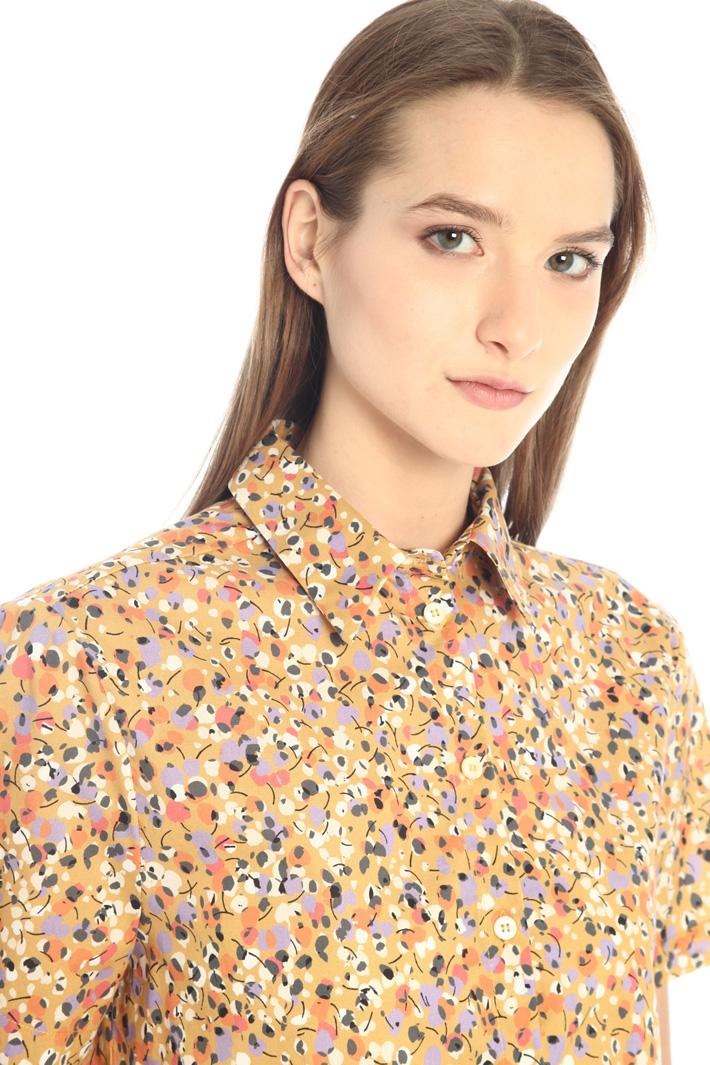 Crop poplin shirt Intrend