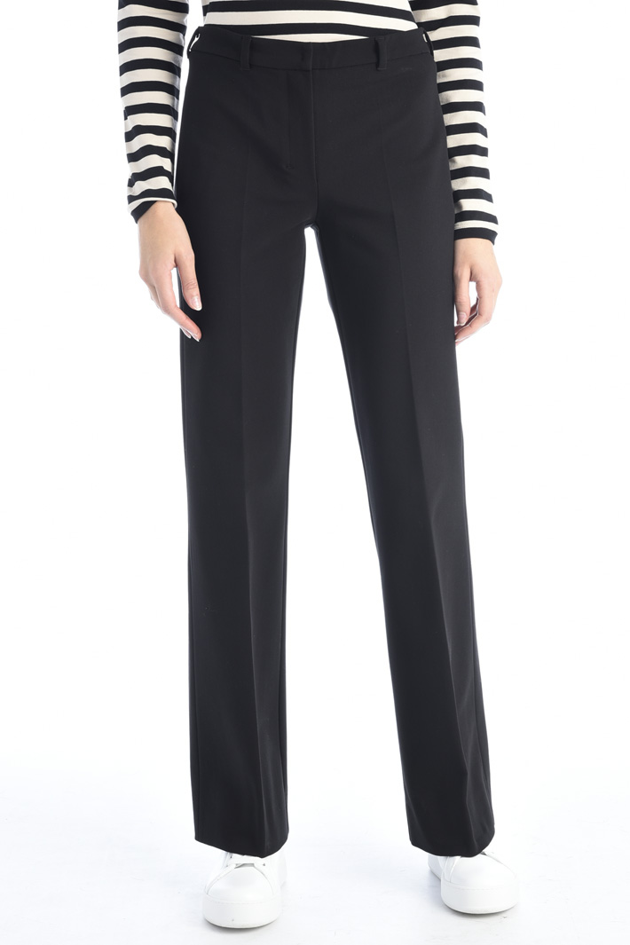 Cotton flared hem trousers Intrend