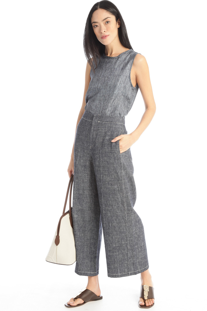 Linen and silk trousers Intrend