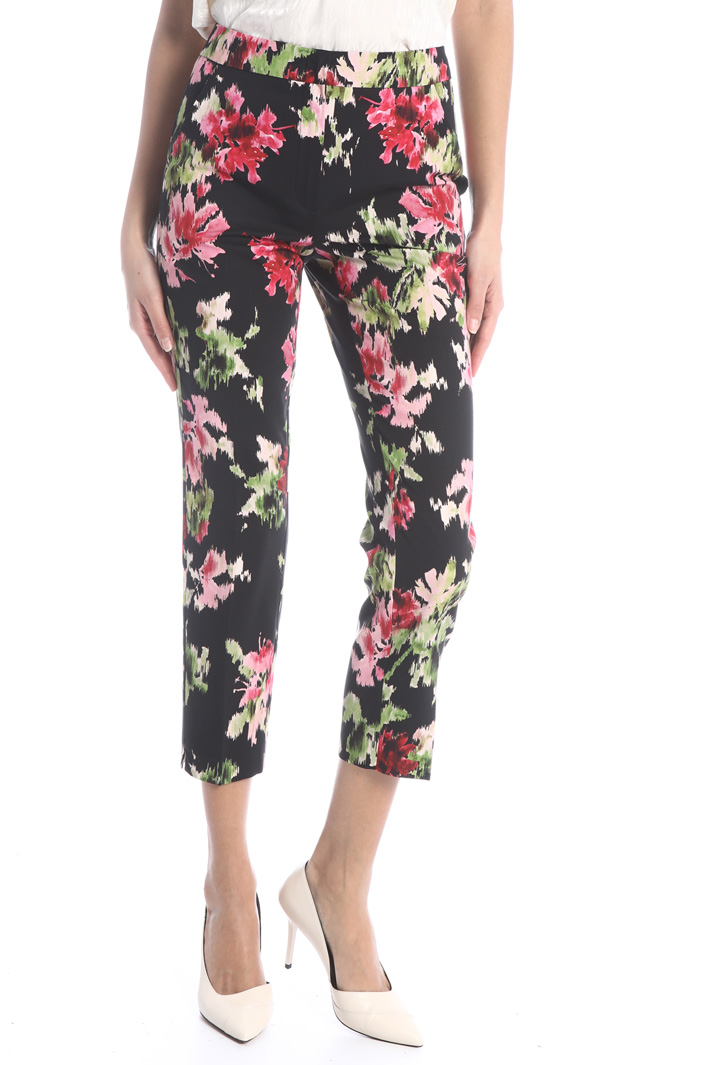 Printed ottoman trousers Intrend