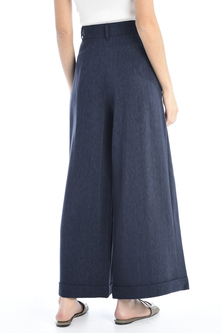 Compact canvas trousers Intrend