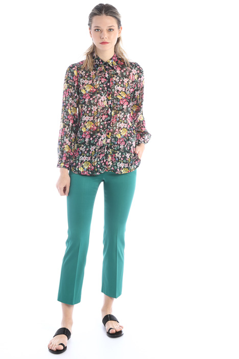 Flared faille trousers Intrend