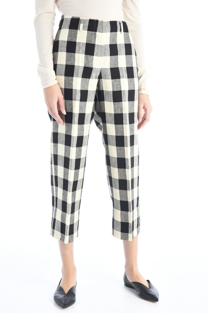 Linen twill trousers Intrend