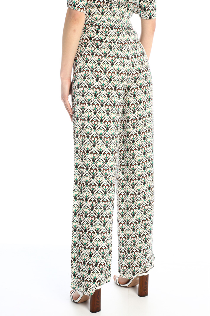 Satin patterned trousers Intrend