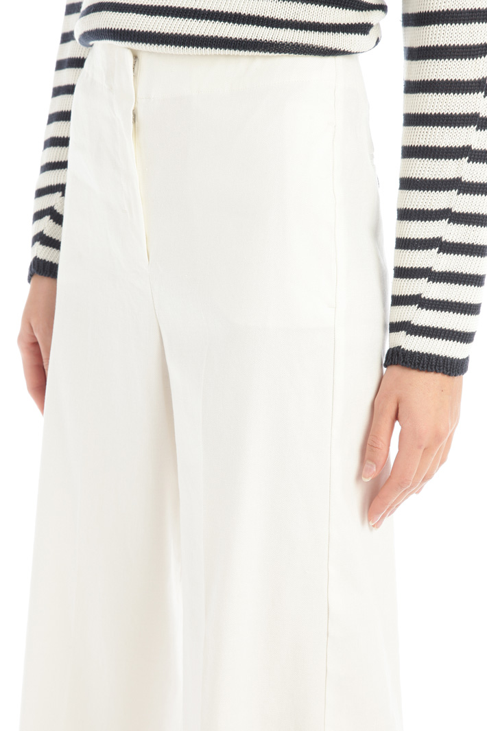 Linen blend palazzo trousers Intrend