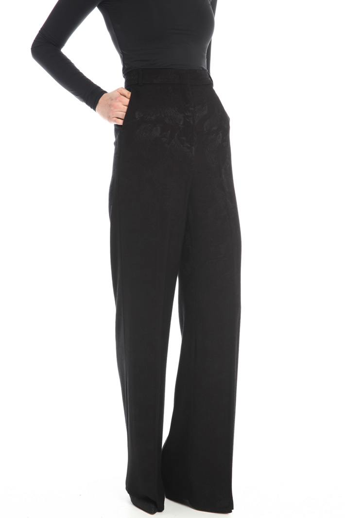 Jacquard palazzo trousers Intrend