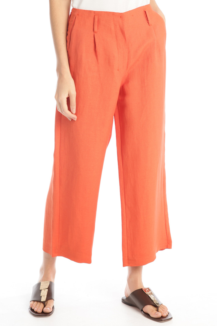 Cropped linen trousers Intrend