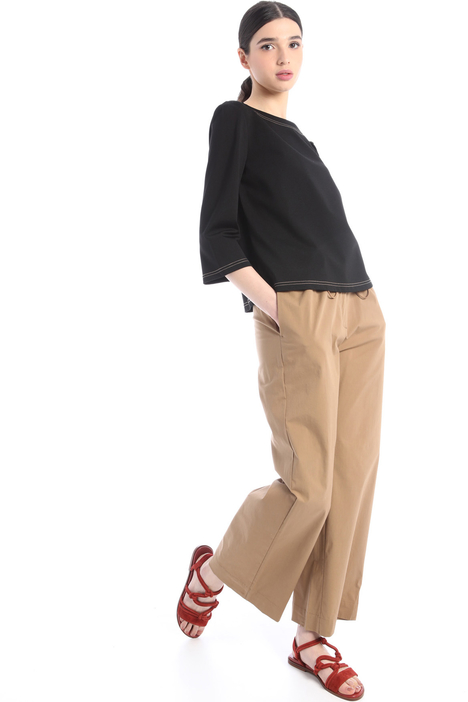 Flared drawstring trousers Intrend