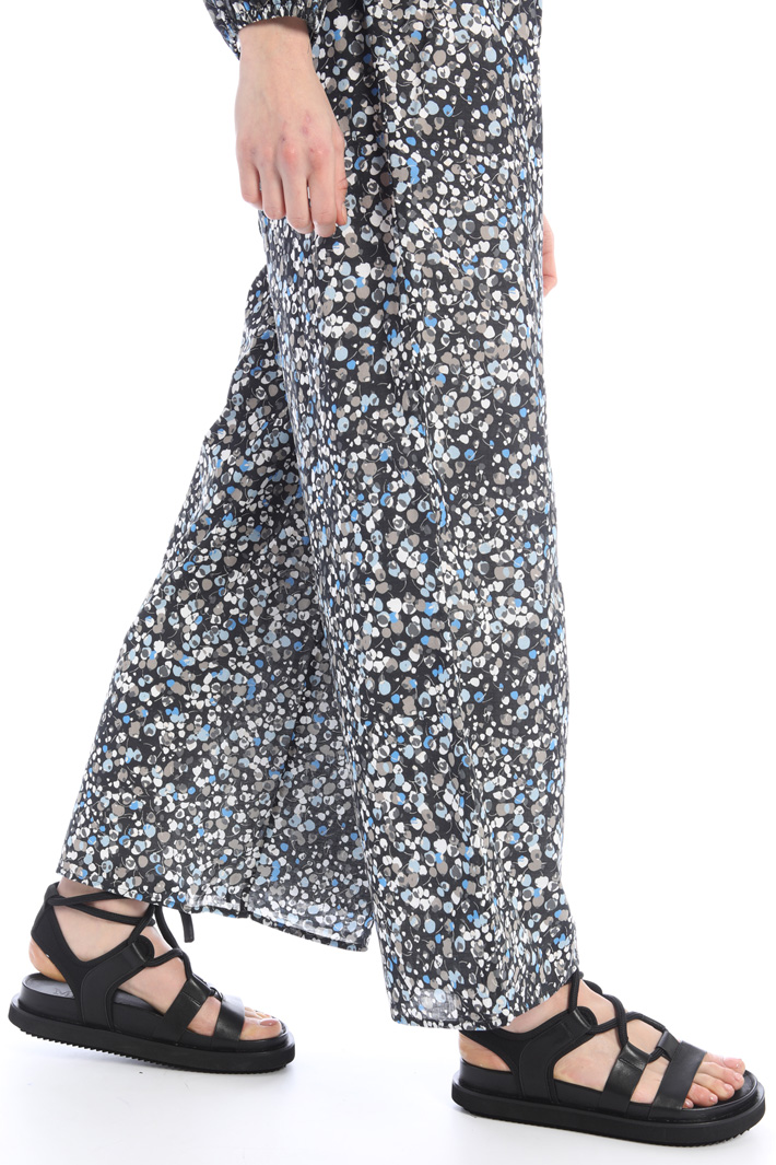 Wide-leg voilé trousers Intrend