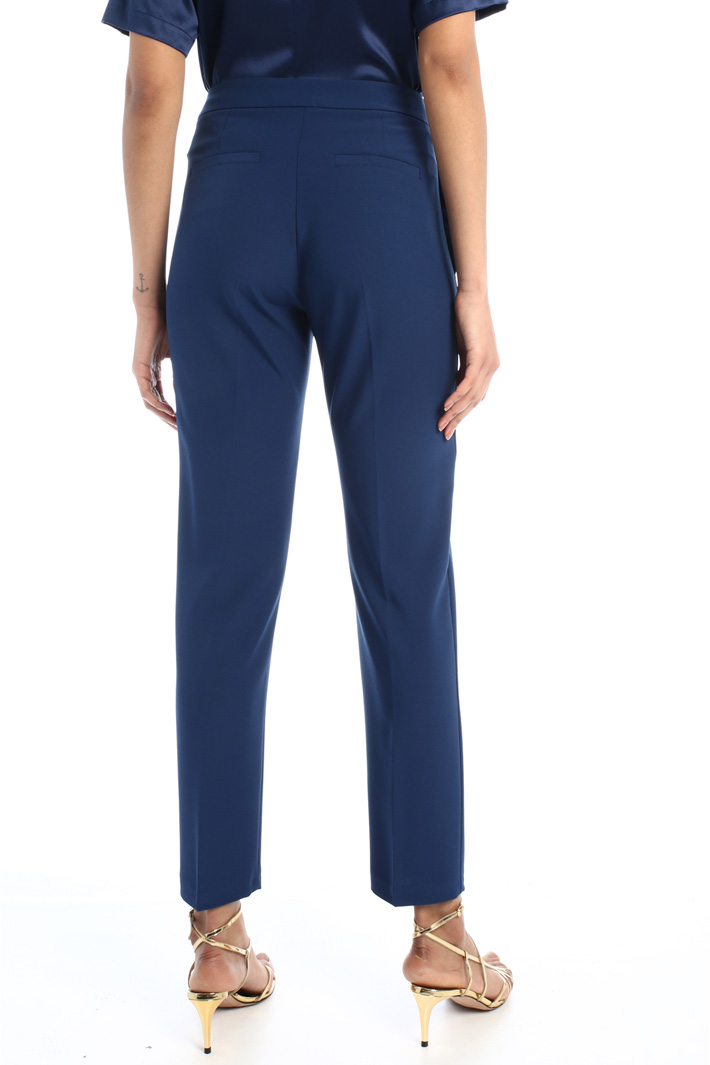 Straight leg crepe trousers  Intrend