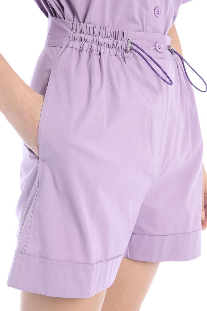 Stretch poplin shorts Intrend