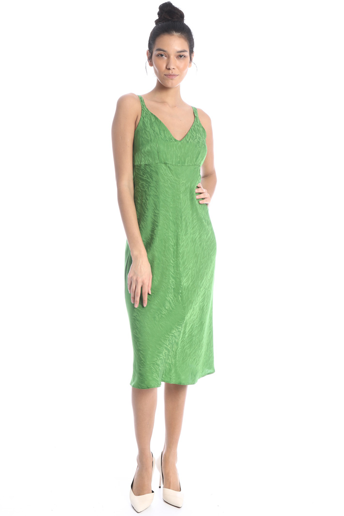 Moire satin dress Intrend