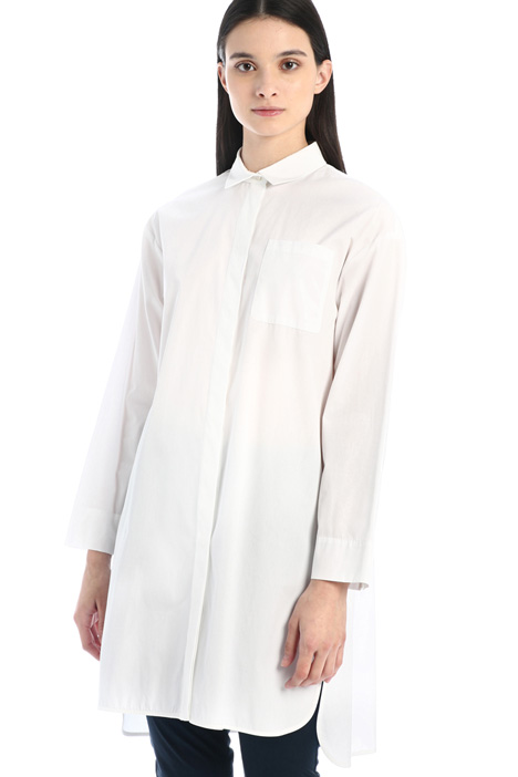 Cotton shirt with slits Intrend