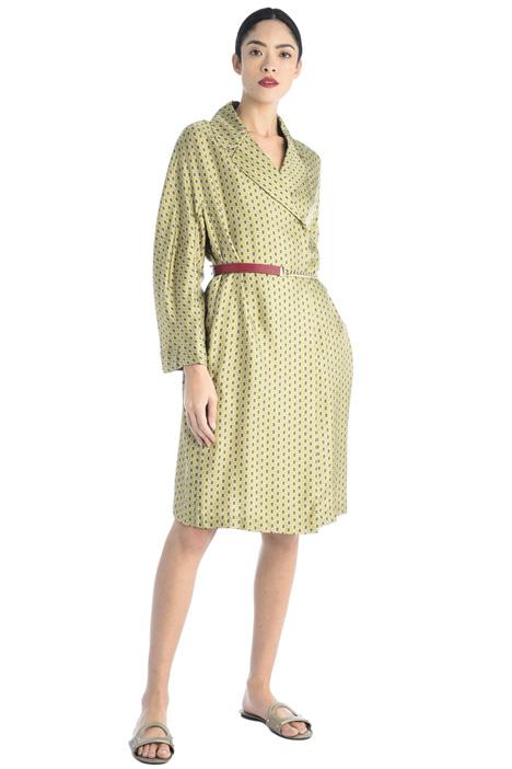 Wrap-up silk dress Intrend
