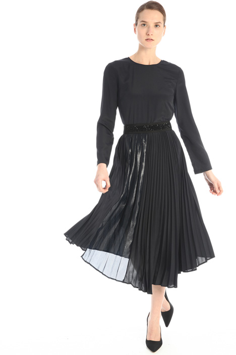 Pleated asymmetrical dress  Intrend